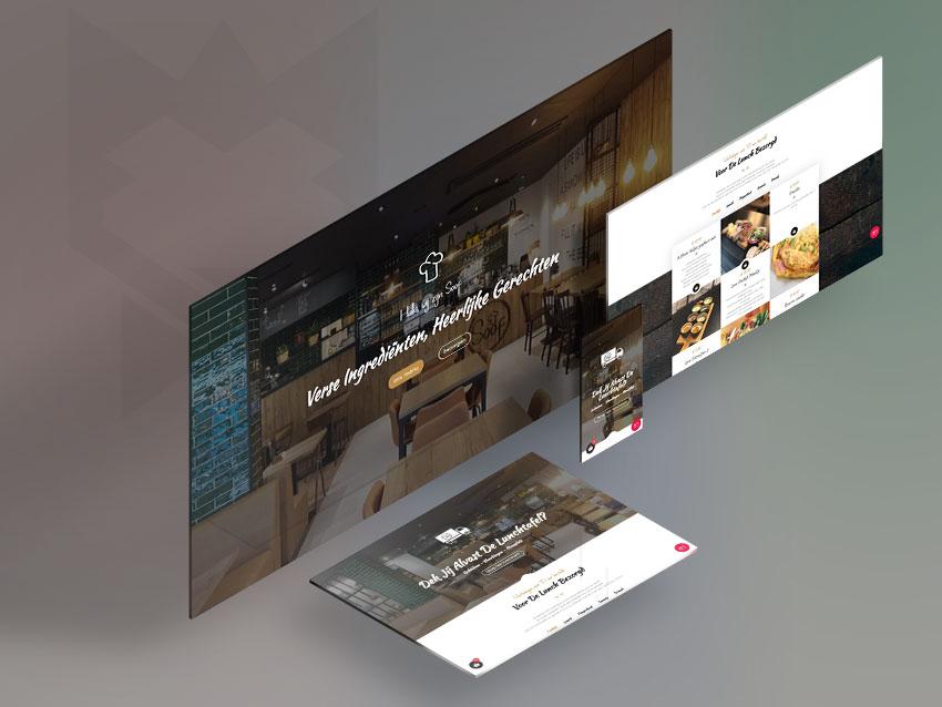 Portofolio Website Reservasi Online Restoran Lunchroom Soof Schiedam - Belanda