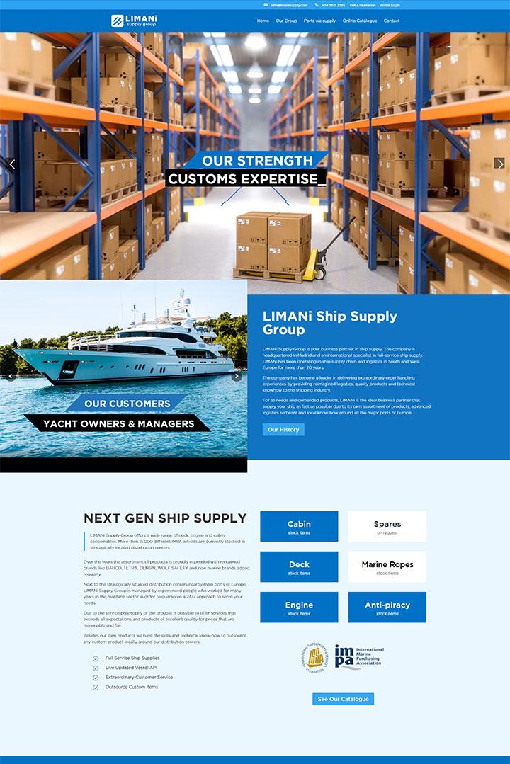 Portofolio website company profile dan Odoo ERP Netherlands